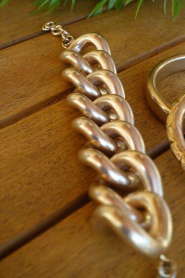 Bracelet mychain doré Claudia Lion