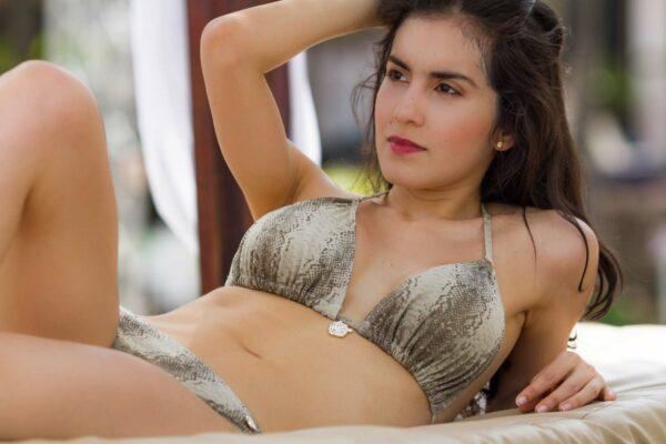 Claudia Lion Beachwear swimwear hero Swarovski
